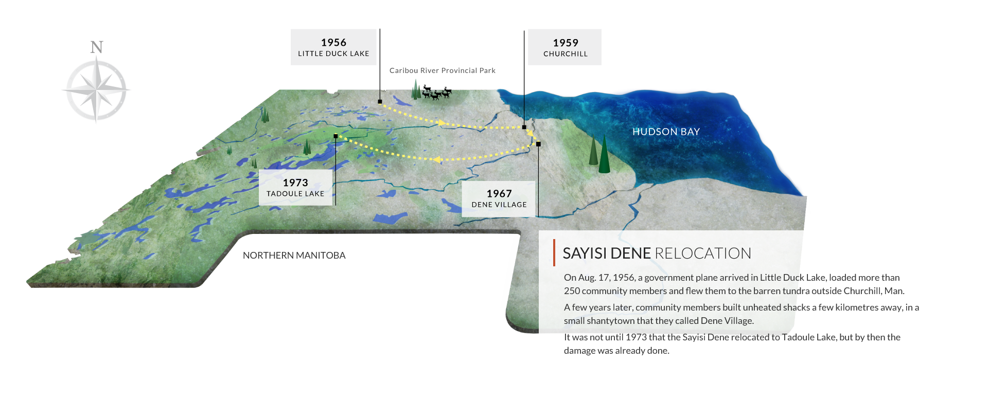 Sayisi Dene First Nation Relocation Settlement Trust - Relocation Map