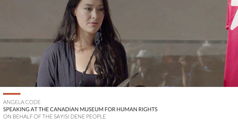 Angela Code speaks at Canadian Museum for Human Rights